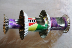 Objets en canettes de soda recyclées