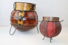 Objets réalisés en métaux reclyclés