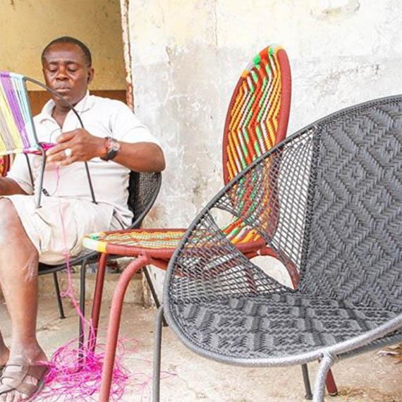 Créateur de chaises tissées : </br>Bismark